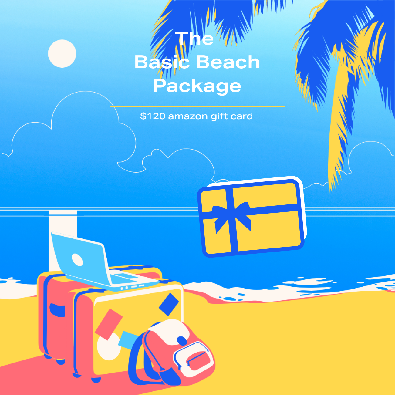 The Basic Beach Package - $120 Amazon giftcard